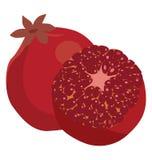 Pomegranate whole and peeled Royalty Free Stock Photo