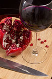 Pomegranate wine Royalty Free Stock Images