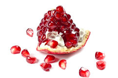 Pomegranate With Grains Royalty Free Stock Photos
