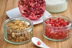 Pomegranate Yoghurt Stock Photos