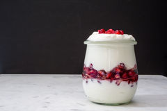 Pomegranate & Yogurt Parfait Stock Images