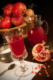 Pomegranatefruktsaft Royaltyfri Fotografi