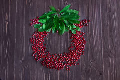 Pomegranategrain rojo maduro Fotos de archivo libres de regalías