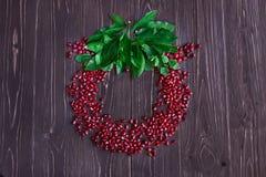 Pomegranategrain rosso maturo Fotografie Stock Libere da Diritti