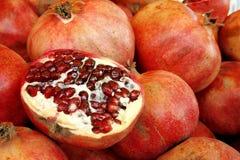 pomegranates рынка Стоковые Изображения RF