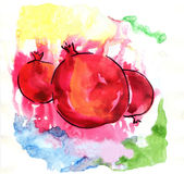 pomegranates royaltyfri illustrationer