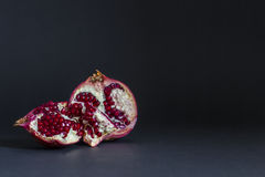 Pomegranates on black Stock Photography