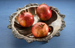 Pomegranates in a Bowl Royalty Free Stock Photography