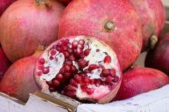 Pomegranates in Box stock photography
