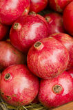 Pomegranates on display Stock Photo