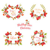 Pomegranates Floral Banners and Tags. For your design and scrapbook - in vector Stock Photos