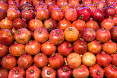 Pomegranates in food store Royalty Free Stock Image