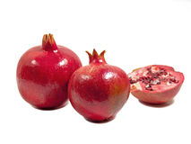 Pomegranates and a half Royalty Free Stock Image
