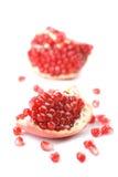 Pomegranates isolated Stock Photo