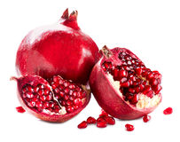 Pomegranates isolated on White Stock Photography