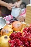 Pomegranates juice Royalty Free Stock Photography