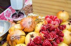 Pomegranates juice Royalty Free Stock Image