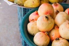Pomegranates at the Market Stock Image