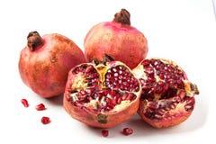 Pomegranates over white Royalty Free Stock Photo
