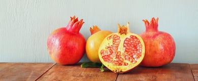 Pomegranates. Rosh hashanah (jewish New Year) symbol Royalty Free Stock Photos