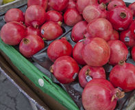 Pomegranates for Sale in Montreal Royalty Free Stock Image