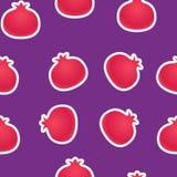 Pomegranates seamless background Stock Image