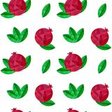 Pomegranates seamless pattern Royalty Free Stock Image
