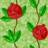 Pomegranates seamless pattern Stock Photography
