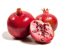 Pomegranates in season Stock Image