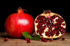 Pomegranates side by side Royalty Free Stock Photos