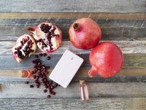 Pomegranates and Soap royalty free stock photography