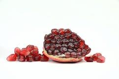 Pomegranates  on White Stock Images