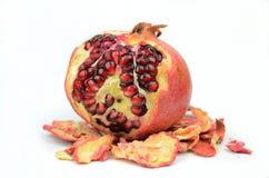 Pomegranates  on White Royalty Free Stock Image