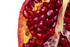 Pomegranates on white. Close up view of some pomegranate fruit  isolated on a white background Stock Photography