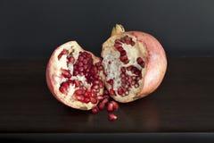 pomegranatetabellträ Royaltyfria Foton