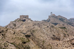 Pomegues island in Marseille, former military zone Royalty Free Stock Photography