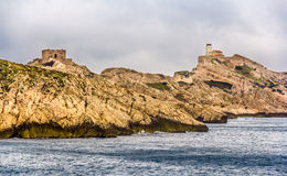 Pomegues island in Marseille, former military zone Royalty Free Stock Image