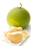 Pomelo. Closeup of pomelo isolated on white background Stock Photos