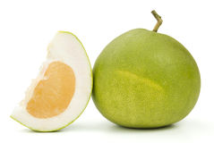 Pomelo. Closeup of pomelo  on white background Royalty Free Stock Image