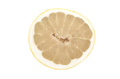 Pomelo. Slice of pomelo on wight background stock photos