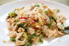 Pomelo salad in thailand Royalty Free Stock Photos