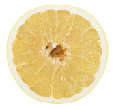 Pomelo or Chinese grapefruit  slice isolated on the white backgr Royalty Free Stock Photo