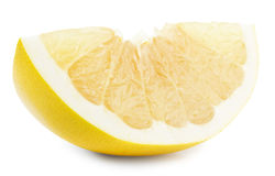 Pomelo or Chinese grapefruit slice isolated on the white backgro Royalty Free Stock Photo