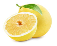 Pomelo or Chinese grapefruit  on the white background Royalty Free Stock Photo