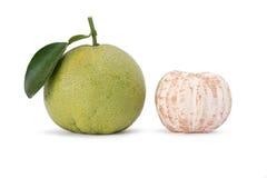 Pomelo citrus fruit. Isolated on white background Stock Photography