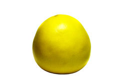 Pomelo citrus fruit on a white background. Pomelo bright yellow on a white background Stock Images