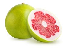 Pomelo citrus fruit. On white background. Clipping path included stock photos