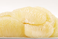 Pomelo citrus isolated on white Royalty Free Stock Photos