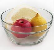 Pomelo, cytryna i jabłko, Fotografia Royalty Free