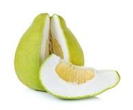Pomelo fruit isolated on the white background Royalty Free Stock Photo
